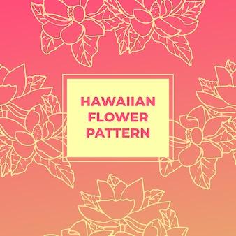 Patrón de flore hawaiano
