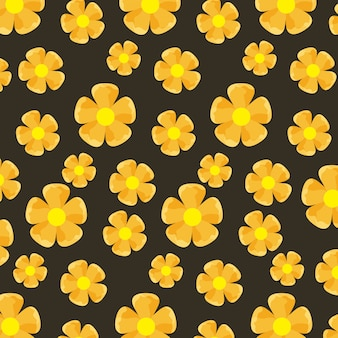 Patrón de flores amarillas