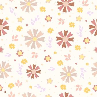 Patrón de flores en colores pastel