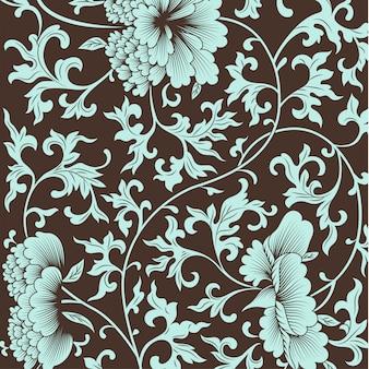 Patrón de flores en estilo chino.