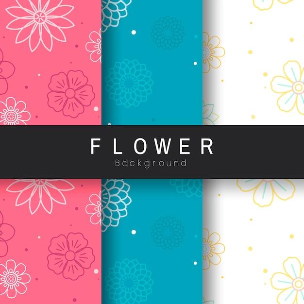 Patrón de flores sin fisuras
