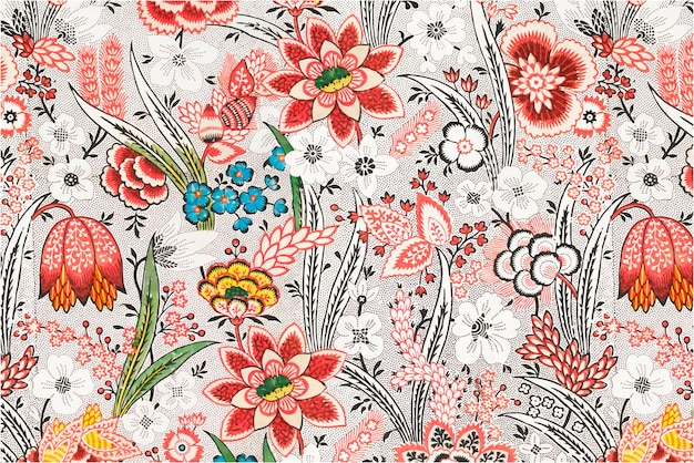 Patrón de flores florecientes
