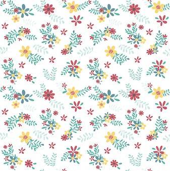 Patrón de flores de primavera colorido transparente