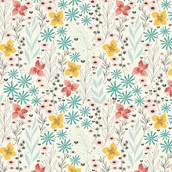 Patrón de flores de primavera margarita