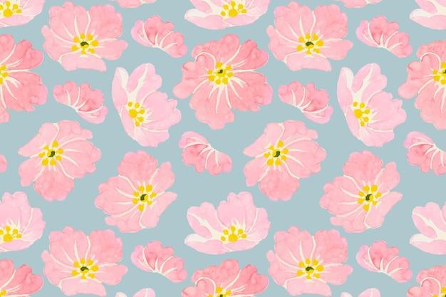 Patrón de flores silvestres en colores pastel