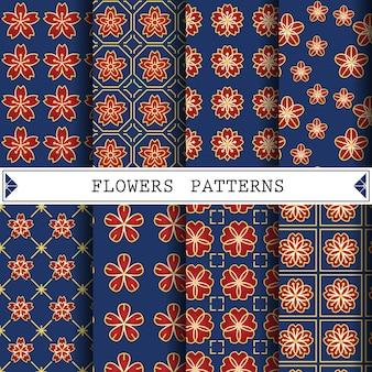 Patrón de flores para texturas de fondo o de superficie de páginas web.