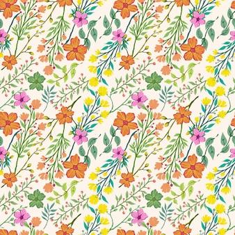 Patrón de flores tropicales sin fisuras