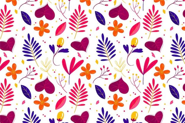 Patrón con flores