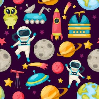 Patrón de fondo del espacio