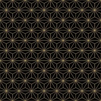 Patrón de fondo sin fisuras geométrico abstracto oro lujo.