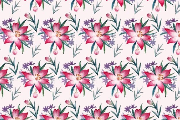 Patrón de fondo floral hermoso