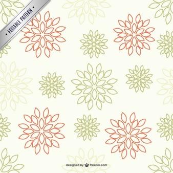 Patrón de fondo con flores de dos colores
