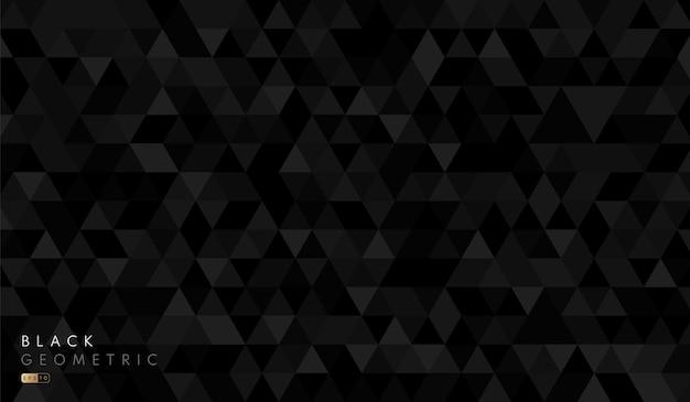Patrón de fondo de forma hexagonal geométrico negro y gris abstracto.