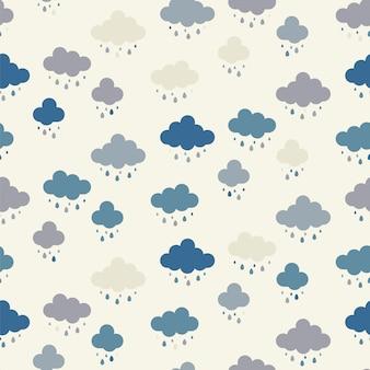 Patrón de fondo de nubes transparente