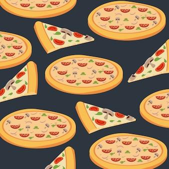 Patrón de fondo de pizza