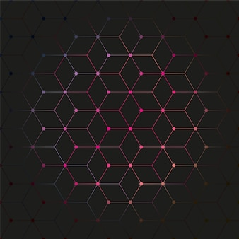 Patrón de fondo de polígono de color