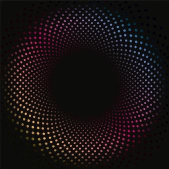 Patrón de fondo de puntos 3d de color