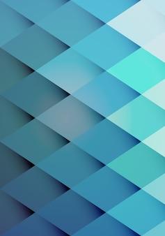 Patrón de fondo retro hipster de diamantes repetidos azules graduados