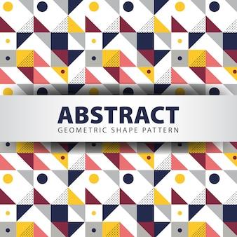 Patrón de forma geométrica abstracta