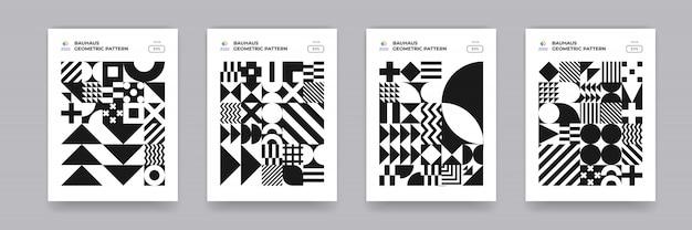 Patrón de formas geométricas abstractas