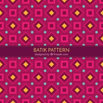 Patrón de formas geométricas batik