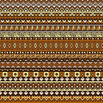 Patrón de franjas étnicas con formas abstractas