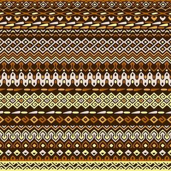 Patrón de franjas de formas étnicas