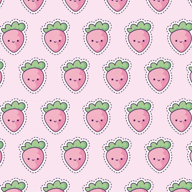 Patrón con fresas