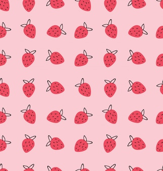 Patrón de fresas