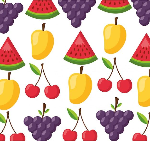 Patrón fresco de alimentos saludables