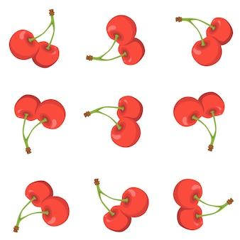 Patrón de fruta de cereza