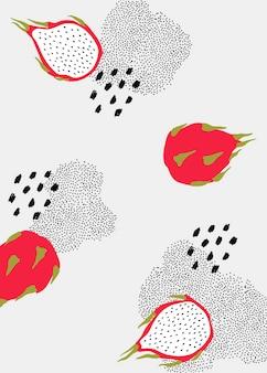 Patrón de la fruta del dragón