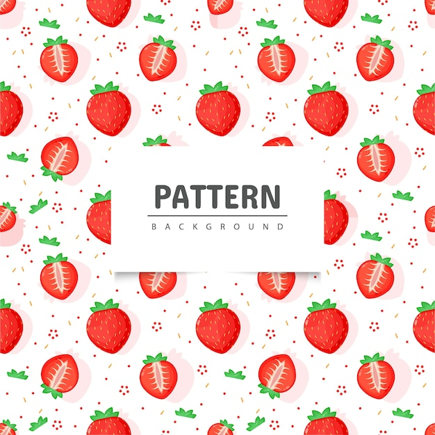Patrón de fruta fresa perfecta