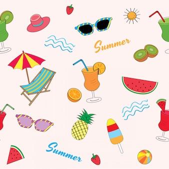 Patrón de fruta de verano