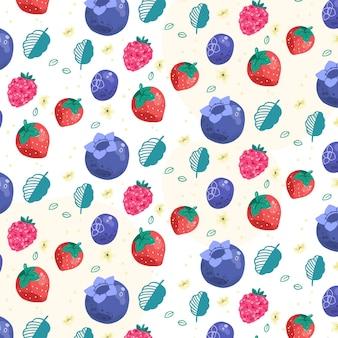 Patrón de frutas con bayas