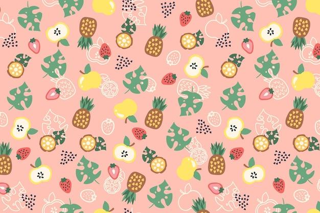 Patrón de frutas coloridas