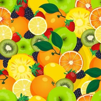 Patrón de frutas sin costuras