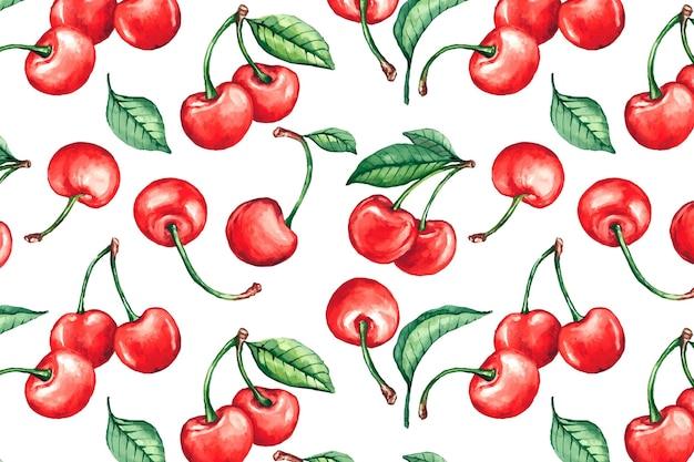 Patrón de frutas dibujadas a mano