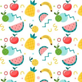 Patrón de frutas establece tema