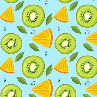 Patrón de frutas con kiwi