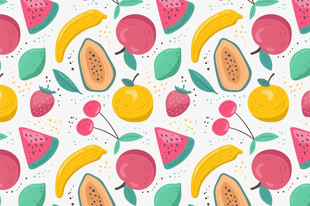 Patrón de frutas con limas