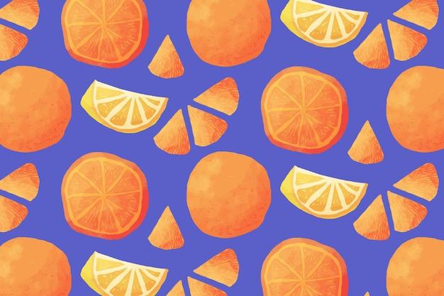 Patrón de frutas con naranjas