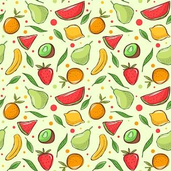 Patrón de frutas con plátano