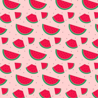 Patrón de frutas con sandía