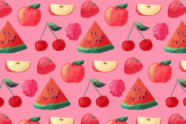 Patrón de frutas con sandías