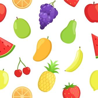 Patrón de frutas seamlees