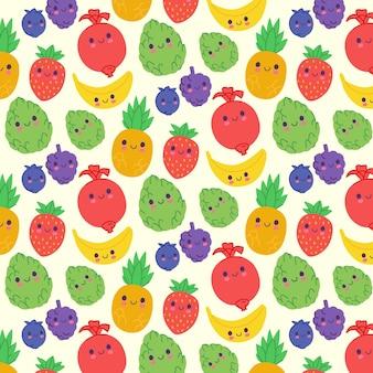 Patrón de frutas con uvas