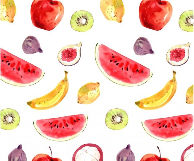 Patrón de frutas de verano