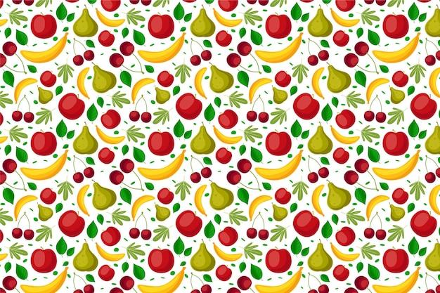 Patrón de frutas