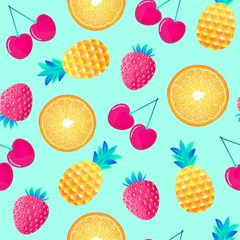 Patrón con frutas